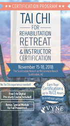 4-Day: Tai Chi For Rehabilitation Retreat & Instructor Certification