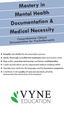 Mastery in Mental Health Documentation & Medical Necessity