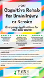 2-Day: Cognitive Rehab for Brain Injury or Stroke- Everyday Applications for the Real World