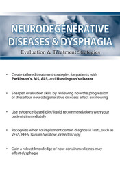 Neurodegenerative Diseases and Dysphagia