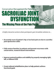 Conservative Management for Patients with Sacroiliac Joint Dysfunction