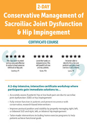 Conservative Management of Sacroiliac Joint Dysfunction & Hip Impingement
