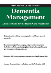 Image ofDementia Management: Advanced Skills for the Health Care Practitioner