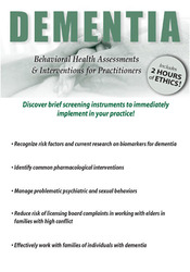 Image ofDementia: Behavioral Health Assessments & Interventions for Practition