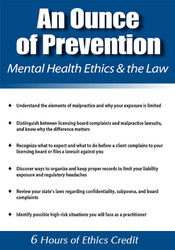Image ofAn Ounce of Prevention: Mental Health Ethics and the Law
