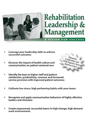 Image ofRehabilitation Leadership & Management: A Vision for Success