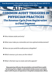 Image ofCommon Audit Triggers in Physician Practices: The Revenue Cycle from R