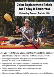 Image ofJoint Replacement Rehab for Today & Tomorrow: Returning Seniors Back t
