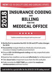 Image ofInsurance Coding and Billing for the Medical Office: 2018