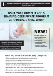 OSHA 2018 Compliance & Training Certificate Program For the Medical &